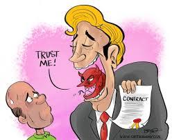 Resultado de imagen para contract cartoon