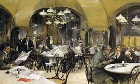 european culture is an invented tradition ideas the cafeacute griensteidl in vienna watercolour by reinhold voelkel 1896 <em>