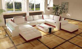 living room sofa ideas: white leather sofa design for living room ideas
