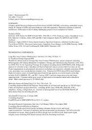 john westmorelands resume