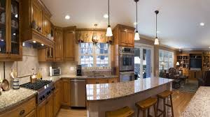 kitchen design cabinets traditional light: contemporary kitchen interior design decorated with wooden kitchen cabinet completed with traditional kitchen pendant lighting