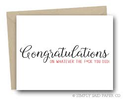job promotion card congratulations on whatever the f ck you did congratulations congrats card funny new job promotion card greeting card sarcastic card
