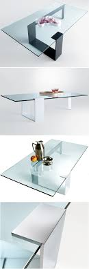 room modern camille glass: giulio mancini plinsky glass coffee table by tonelli