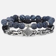 <b>Natural Tiger Eye</b> Stone Men's Beaded Bracelet – Alex Aurum