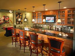transforming your basement into the perfect room basement sports bar ideas