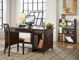 home office l shaped desk and rectangle espresso wooden with drawers and shelf combination with espresso brick office furniture