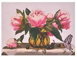Купить <b>Hobby</b> & Pro <b>Набор</b> для вышивания Розовые пионы 44 х ...