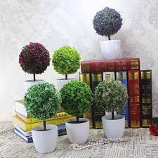 artificial topiary tree ball plant flowers buxus plants in pot indoor fake bonsai for garden home artificial topiary tree ball plants pot garden