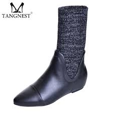 Tangnest NEW <b>Autumn Women</b> Ankle Boots Fashion <b>Pointed Toe</b> ...