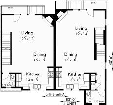 images about Triplex and Fourplex House Plans on Pinterest    Four plex House Plans  Unit Multi Family House Plans  F