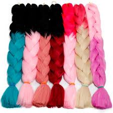 32 inch 165g <b>Xpression Braids synthetic Hair</b> ombre double color ...