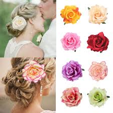 Boho <b>Flower Hair Accessories For</b> Women Bride Beach Rose Floral ...