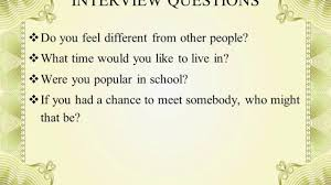 profile essay interview questions profile essay interview questions