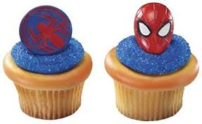 CakeDrake SPIDERMAN Face and Spider Man (24 ... - Amazon.com