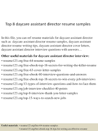 top  daycare assistant director resume samplestop  daycare assistant director resume samples in this file  you can ref resume materials