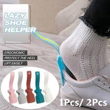 2pcs/<b>1pc Lazy Shoe Helper</b> Unisex Handled Shoe Horn Easy On ...