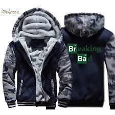 <b>Breaking Bad Hoodie Men</b> Heisenberg Hooded Sweatshirt Coat ...