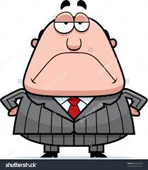 cartoon boss grumpy expression stock vector shutterstock a cartoon boss a grumpy expression