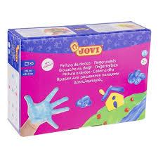 <b>Краски пальчиковые Jovi</b>, 6 цветов, 750 г, картон — купить в ...