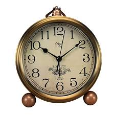 Saytay Classic <b>Retro</b> Clock, Golden Table Table Desk Alarm Clock ...