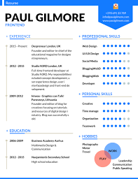 most professional editable resume templates for jobseekers best resume 17 cv frontend developer design templates