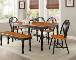 4 chair kitchen table: dining table set with bench  chairs farmhouse dining room for  oak black wood