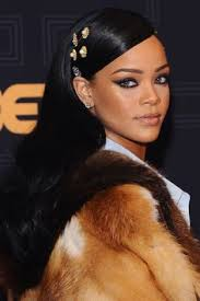 rihanna tapped into the hairaccessories beauty trend this weekend at black s rock hairtrends bazaarloves harpersbazaar co uk