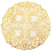 <b>Салфетка декоративная</b> Лейс Золото LO-0915A круглая, 30 см в ...