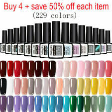 <b>LEMOOC</b> 229 <b>Colors</b> Gel Nail Polish Set Top Base Coat UV LED ...