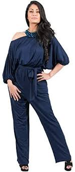 Adelyn and Vivian Plus Size Women's <b>Long Sexy One Shoulder</b> 3/4 ...