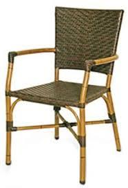 brown wicker outdoor furniture dresses: safari bamboo look aluminum stackable patio arm chair