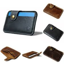 best top <b>men casual leather</b> slim credit card ideas and get free ...