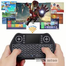 English/Russian version <b>MT10</b> 2.4G <b>Wireless Keyboard Fly</b> Air ...