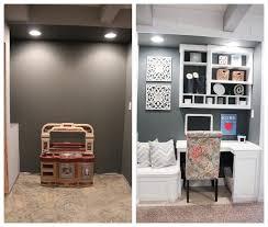 office nook custom built in for basement basement office ideas