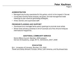combination resume example  executive director  performing artscombination resume example executive director performing arts p