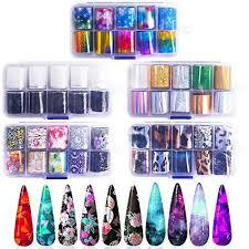 Buy Noverlife <b>50PCS</b> Nail Art Transfer Foil Sheet, <b>Holographic</b> ...