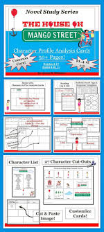 best images about the house on mango street mini house on mango street character analysis profile cards common core