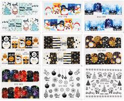 <b>30 SHEETS</b> WINTER Christmas <b>Nail Art</b> Water Transfer Stickers ...