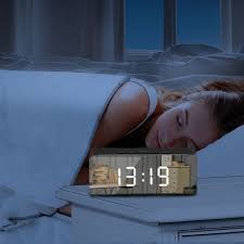 <b>Creative LED Digital Alarm</b> Clock Night Light Thermometer Display ...