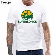 Seattle Supersonics <b>T</b> shirt cotton <b>Fashion Brand t</b> shirt <b>men</b> new ...
