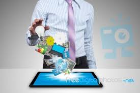 tablet pc with business concept stock photo business concepts