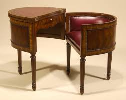 aged regency finished metamorphic telephone table burgundy leather inlay antique home office furniture fine