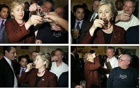 Image result for Hillary drunk