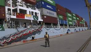 cpec potential game changer for economy chinese daily a navy ier stands guard while a loaded chinese ship prepares to depart at gwadar port west of karachi ap
