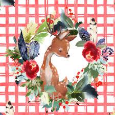 <b>Boho</b> Winter <b>Deer</b> Fabric by Shopcabin - Hawthorne Supply Co