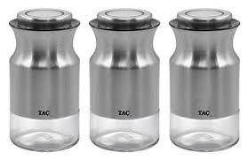 TAC <b>Набор банок</b> для сыпучих продуктов S <b>3</b> шт — купить по ...