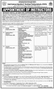 govt jobs in stevta sindh technical education vocational related