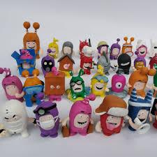 50pcs <b>Oddbods</b> Toy Figures Zee Jeff Fuse Slick PVC Action Figure ...