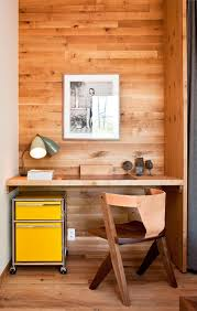 10 small home office ideas wood panels lining the wall of this alcove designate the alcove office
