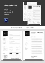 creative resume templates psd eps format creative federal a4 resume cover letter template